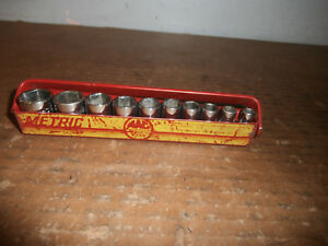 Mac Tools Metric 10 Piece 1 4 Drive Socket Set With 1 Snap On Socket