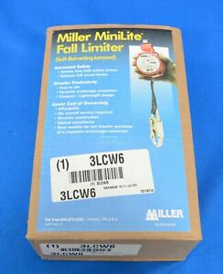 Miller Minilite Fall Limiter Self retracting Web Lanyard Fl11 8 11ft
