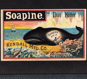Whale 1800 S Whaling Ship Soapine Soap Victorian Advertising Trade Card