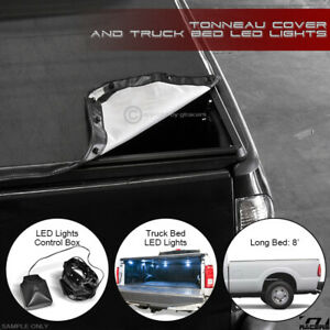 Snap On Tonneau Cover Led Lights 1999 2016 F250 F350 Superduty 8 Truck Long Bed