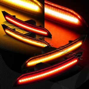 For 2016 2018 Chevy Camaro Smoke Lens Led Front rear Side Marker Lights 4pcs