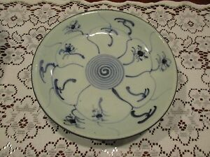 Antique Chinese Blue White Plate