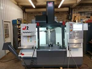 Haas Vf 2 New 2017 Vise Holders Renishaw Probe System And Tool Presetter