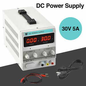 30v 5a 110v Dc Power Supply Clip Test Line Lab Adjustable Precision Led Digital