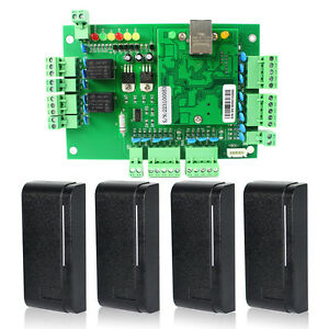 Wiegand Tcp ip Network Entry Access Board Panel Controllers For 2 Door 4 Reader