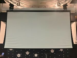 Lightly used Draper 220 Vinyl Electric Projector Screen 16 9