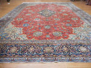 C1930 Antique Persian Mohajeran Ferahan Mallayer Sarouk 10x13 Estate Sale Rug