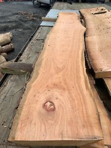Live Edge Cherry Wood Slab Bartop Counter Table