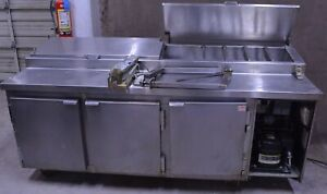 89 Kairak Krp 89s Sandwich Unit Refrigerated Prep Table Station Cooler 115v