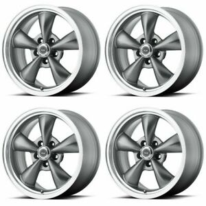 Set 4 16 American Racing Torq Thrust M Ar105 16x7 5x4 5 35mm Anthracite Wheels
