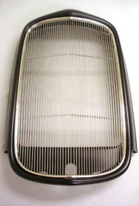 1932 Ford Coupe Sedan Steel Radiator Shell Stainless Grille Insert Display Sale