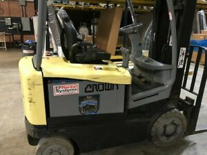 Crown Electric Forklift Model Fc4520 50 5 000lb 4700 Hours Very Good Condition