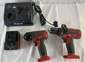 Snap On Ct8710a 3 8 Impact Wrench Cdr8815 1 2 Drill driver Kit W Charger