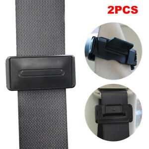 2x Car Seat Belt Stopper Buckle Improves Comfort Safety Adjuster Clips Fit Vw