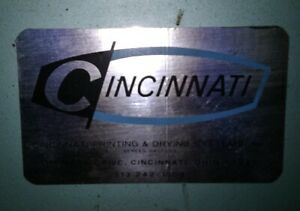 Cincinnati Vacuum Frame Exposure Unit For Making Silk Screens 48 W By 39 Tall