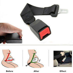 1xuniversal Car Seat Belt Adjustable Extension Extender Nylon Safety Buckle Clip