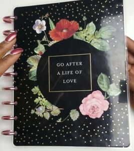 Happy Planner Vintage Botanical Deluxe Planner 18 Months 2019 Monthly Layout