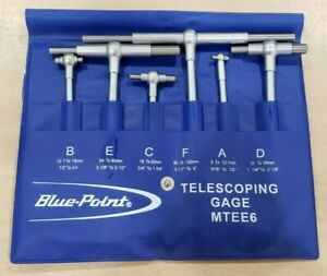 Blue Point Mtee6 Telescoping Gages 6pc Set Pre owned Free Shipping