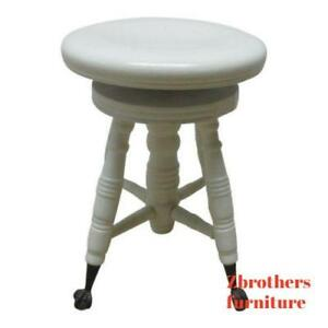 Antique Painted Claw Foot Piano Stool Bench Ottoman Seat