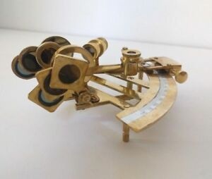 Brass Sextant 5 Nautical Navigation Sextant Vintage Replica Desk Shelf Decor