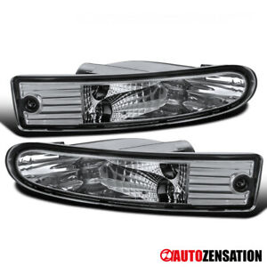 For 2000 2002 Mitsubishi Eclipse Clear Lens Bumper Lights Turn Signal Lamps Pair