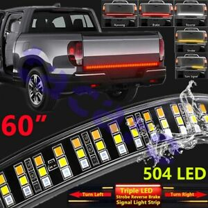 60 Triple Row 504 Led Truck Tailgate Light Strip Bar For Ford F 150 F 250 F 350