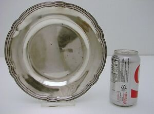 Italian Solid Silver Tray Plate Marked Naples 800 Fine