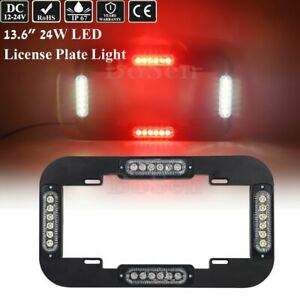 24w 13 6 24 Led Emergency Traffic Adviser Strobe License Plate Light Red White