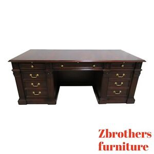 Councill Craftsman Furniture Flame Mahogany Executive Office Chippendale Desk
