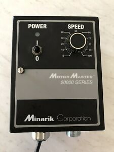 Minarik Motor Speed Control Motor Master 20000 Series Dc With Heat Sink