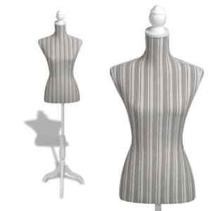Female Mannequin Torso Clothing Clothes Dress Form Ladies Bust Display Stripes