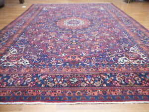 C1880 Super Antique Signed Classic Serapi Bijar Bidjar 10x14 Estate Sale Rug