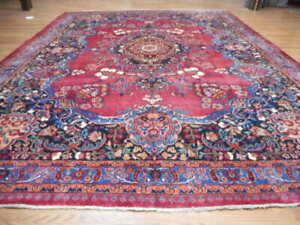 C1930 Super Antique Classic Serapi Bijar Bidjar 10x13 Estate Sale Rug