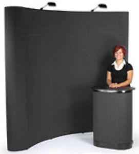 10 Pop Up Curved Display With Case Lighting