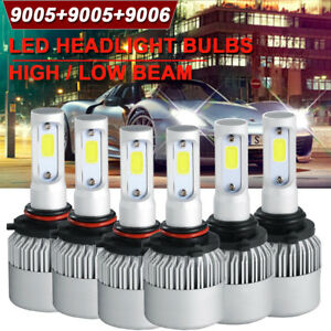 6x Cob Led Headlight High Low Fog Combo For Dodge Ram 1500 2500 3500 2016 2018