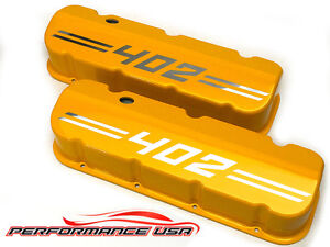Big Block Chevy 402 Die Cast Aluminum Yellow Valve Covers