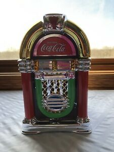 Gibson ~ COCA~COLA Rock N' Roll Jukebox Cookie Jar ~ W/ Box