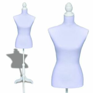 Female Mannequin Torso Clothing Clothes Dress Form Ladies Bust Display White Us