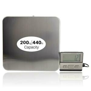 440lbs 0 1lb Ac Digital Scales Floor Bench Scale Postal Platform Shipping Scale