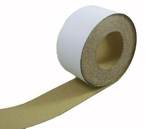 80 Grit Adhesive Sticky Backed Aluminum Oxide Sanding Paper Roll 2 3 4 X 20 Yard