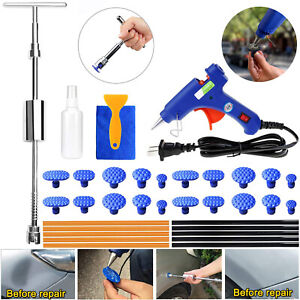 Car Auto Slide Hammer Glue Gun Tab Stick Body Panel Dent Repair Removal Tool Kit