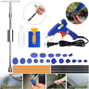 Car Auto Slide Hammer Glue Gun Stick Body Panel Dent Pit Repair Removal Tool Kit