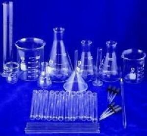 36 Piece Lab Beaker Flask Glassware Starter Set Great Value