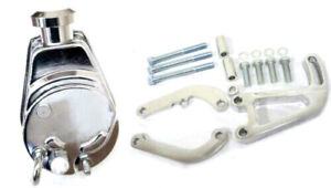 Small Block Chevy Chrome Saginaw Power Steering Pump Sbc Aluminum Bracket Kit
