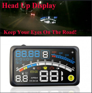 5 5inch Universal Obd2 Car Hud Head Up Display Overspeed Warning System
