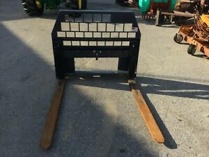 Very Nice Alitec Quick Attach Pallet Forks