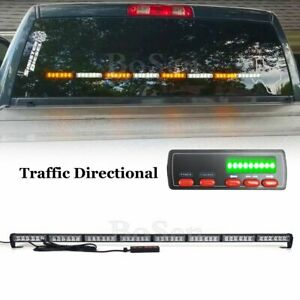 50 Led Traffic Advisor Emergency Warning Response Amber white Strobe Light Bar