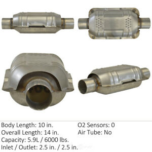 Catalytic Converter universal Rear center Eastern Mfg 70318