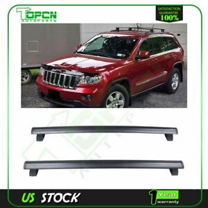 2x For 2011 2018 Jeep Grand Cherokee Black Front Rear Roof Top Rack Cross Bar
