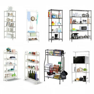 3 4 5 6 7 Multi tier Wire Shelving Rack Adjustable Organizer Storage Book Shelf